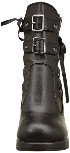 Demonia CRYPTO-51 Blk-Red Lace Vegan Leather
