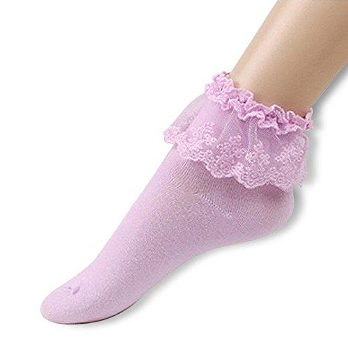 Yezelend Vintage Lace Söckchen Ruffle Rüschen Fashion Ladies Princess Mädchen Geschenk - Damen Rüschen-söckchen