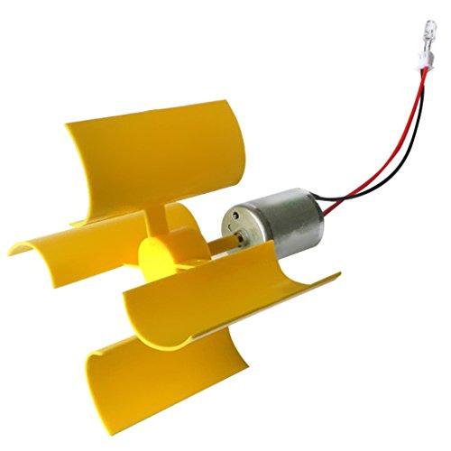Sharplace Mini Generatore di Vento Verticale Kit di Turbine Eoliche Set Modello di Strumento di Insegnamento di Energia Eolica per Bambini Giocattoli Fai da Te