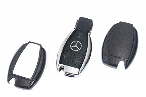 Mercedes-silikon-schlüssel-abdeckung (Key Cover Schlüssel Hülle Abdeckung Metallic Schwarz)