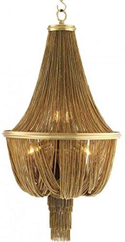 Casa Padrino Luxus Kronleuchter - Luxus Hängeleuchte Gold Durchmesser 54 x H 104 cm