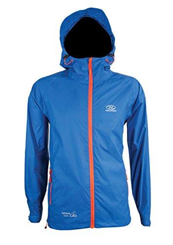 Highlander Herren Stow und GO Blue Packaway Jacket Regenjacke, Blau, L