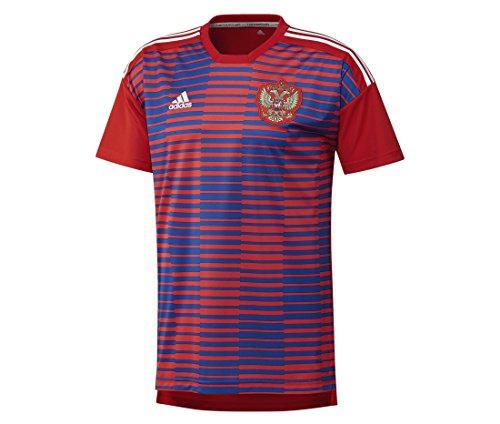 adidas Herren Russland Heim Pre-Match Shirt, Red/Poblue, L