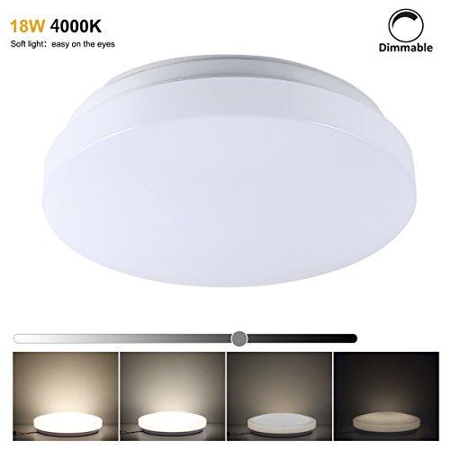 S&G 18W LED Deckenleuchte Farbwechsel rund Deckenlampe Wohnzimmerlampe 3in1 Deckenbeleuchtung modern 1500ml ( Drei Farben warmweiß neutralweiß kaltweiß) (18W)