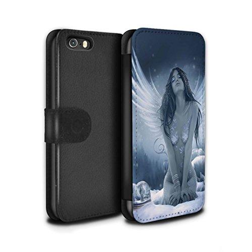 Officiel Elena Dudina Coque/Etui/Housse Cuir PU Case/Cover pour Apple iPhone 5/5S / Tombé Design / Fantaisie Ange Collection La Nieve