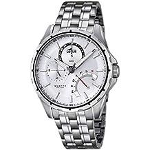 5476a30754ab Reloj de Pulsera de Cuarzo de los Hombres con diseño de Flor de Loto de  Plata