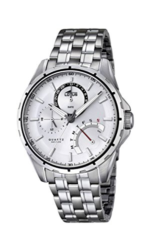 Lotus Men's Quartz Watch with Silver Dial Analogue Display and Silver Stainless Steel Bracelet 18203/1