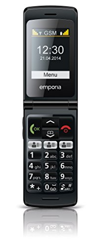 Emporia F220_001_CP 5,59 cm (2,2 Zoll) FLIP Basic Handy (Farbdisplay) schwarz/champagner