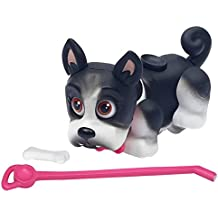 Giochi Preziosi - desfile de mascotas, cachorro de perro, raza Bulldog Francés con el hueso y el correo, Blanco / Negro