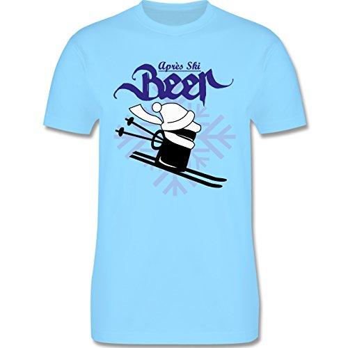 Après Ski - Après Ski Bier - Herren Premium T-Shirt Hellblau