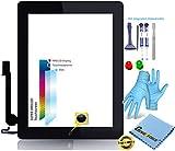 Premium  Retina Touch Screen Vetro Digitizer Nero per Apple iPad 4Display, Original MFC Flex Cavo, Home Button-incl. 9in 1professionale strumento Set di Best-NERO Black-Nuovo