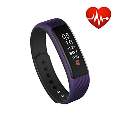 elecfan W810 Smart Bracelet Heart Rate Monitor Pedometer Sleep Tracker Smart Band Fitness Tracker for Android IOS iPhone by elecfan