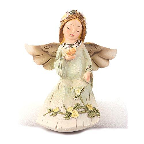 LianLe Dekofiguren Engel Figur Ornamente Kunst Handwerk für Hochzeit Geburtstag Geschenk Tisch Deko (Mit Schmetterling)