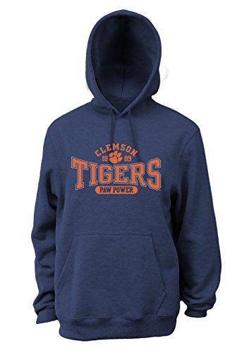 Soffe NCAA Clemson Tigers Herren Pro Weight Basic College Logo Fleece Hoodie, Herren, weiß, X-Large Soffe Fleece