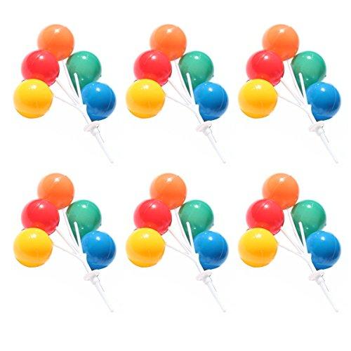 BESTOYARD Ballon Kuchen Topper Bouquet Cluster Dekorative Picks Schöne Cupcake Dessert Dekoration bevorzugt Lieferungen für Geburtstag Hochzeit Party 6st