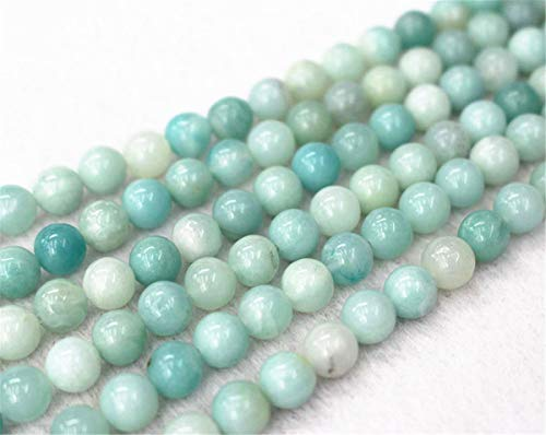 All' ingrosso perline amazonite naturale, 4 mm 6 mm 8 mm 10 mm 12 mm amazonite tondo e liscio perline.perline amazonite all' ingrosso.all' ingrosso perline. 4mm,90pcs