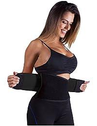Butterme - Faja reductora para mujer, para entrenamiento y deporte, negro