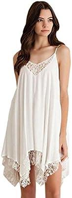 Ularma 2016 Mini vestido de mujer sin mangas de encaje coctel fiesta corto playa