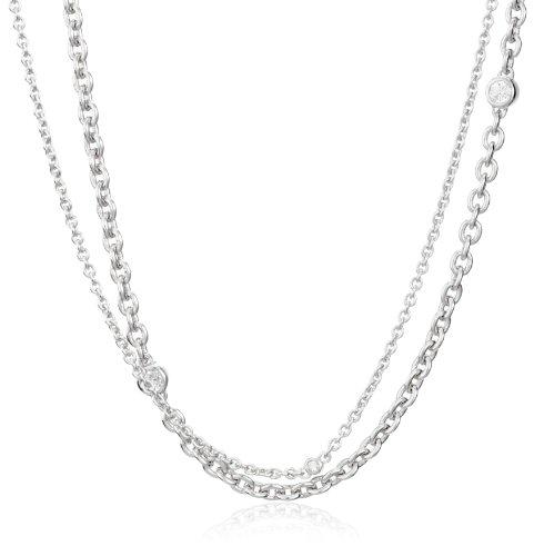 Esprit Damen-Kette LAND OF LIGHT 925 Sterlingsilber 55-58cm 4411374