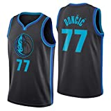 NBA Dallas Mavericks 77 Doncic Camiseta de Baloncesto, City Edition,...