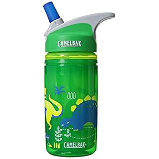 eddy Kids Insulated .4L Water Bottle Green Dinos