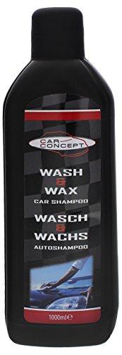 3 x Car Concept Autoshampoo Wasch & Wachs 1000ml Autopflege Shampoo & Wachs
