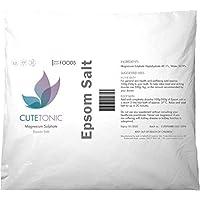 Cutetonic Sal de Epsom (sulfato de magnesio) (1KG)