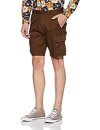 Amazon Brand - Symbol Men's Regular Fit Cotton Shorts