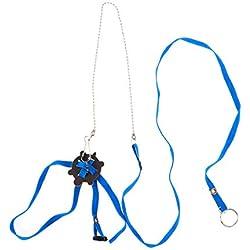POPETPOP Arnés para Mascotas Reptil Correa Tortuga Lagarto Correa Ajustable Suave para el Entrenamiento al Aire Libre (Azul)