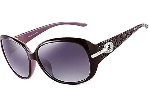 ATTCL® Vintage Fashion Wayfarer polarisées Lunettes de soleil femmes 6214 Purple