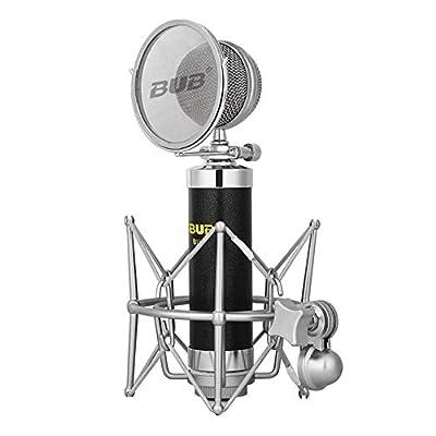 Megadream Condenser Sound Studio Recording Microphone Mic + Shock Mount for Broadcasting / Recording / Karaoke / Singing / Speech / Skype / Voip