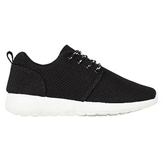 TORISKY Unisex Sportschuhe Laufschuhe Sneakers Turnschuhe Fitness Mesh Air Leichte Schuhe Rot Schwarz Weiß (A61-WH38) N9ncNI