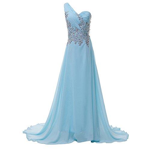 Bridal_Mall - Robe - Trapèze - Sans Manche - Femme Bleu - Bleu ciel