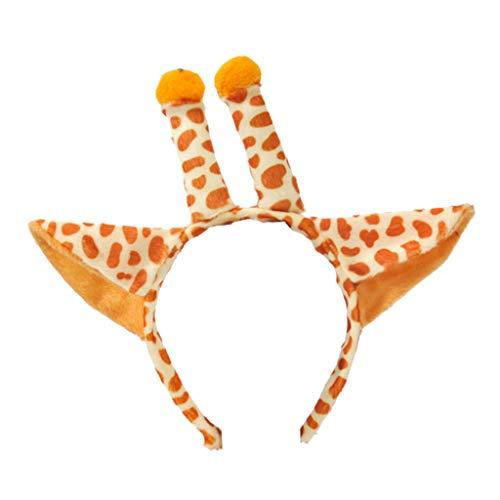 Lyguy, Haarreifen, niedliche Tiere, Cosplay, Kostüm, Set für Kinder und Erwachsene, Giraffe, Geweih, Stirnband, Plüschschwanz, Fliege, Kleid, Halloween, Party, Cosplay Kit - Giraffe Kostüm Kit