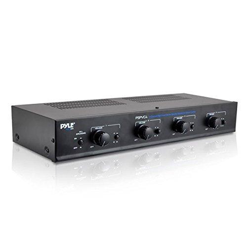 PyleHome PSPVC4 4 Kanäle Stereo Lautsprecher mit Lautstärkeregler Selector