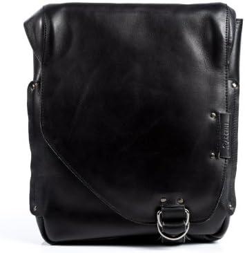 BACCINI bolso mensajero BRIZIO - piel genuina negro - bolso bandolera (messenger bag) - Bolso para notebook para tablet, iPad, 13