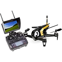 Walkera 15004490 FPV Racing-Quadrocopter Rodeo 150 RTF Drohne mit HD-Kamera, Monitor, Akku, Ladegerät und Devo 7 Fernsteuerung, schwarz