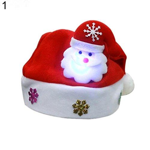 Schneemann Rentier Santa Claus Christmas Hat Kind Erwachsenen-Party Kleid Weihnachts Geschenk-Santa Claus amesii Child