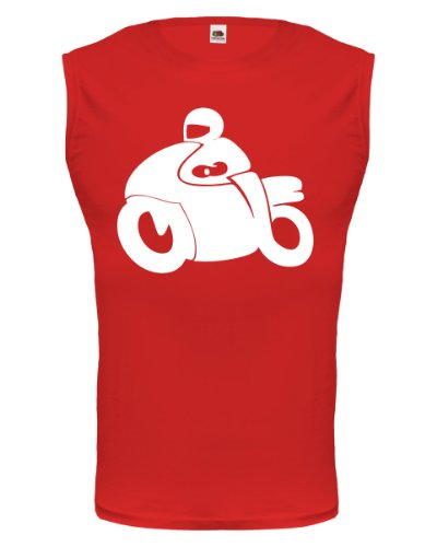 buXsbaum® Tank Top Motorbike Red-White