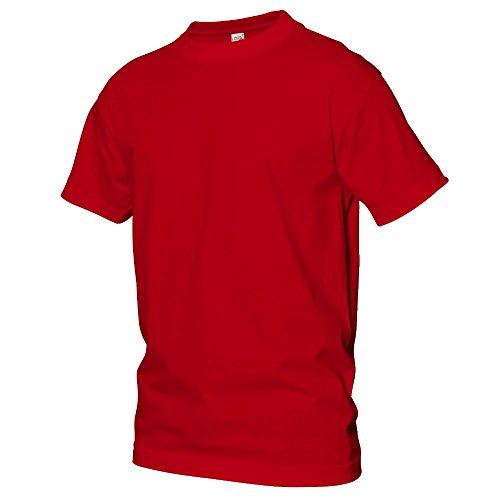 Logostar - Basic T-Shirt - Übergrößen bis 15XL / Red, 3XL (2xl T-shirt)