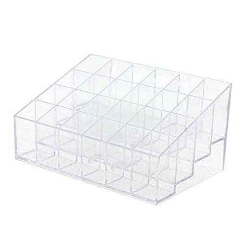 G FOR U.DE Boîte de rangement pour rouges à lèvres avec 24 compartiments Transparent