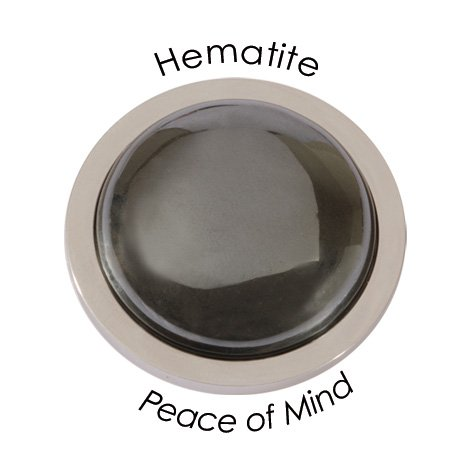 Quoins peace of mind-hematite, m = 32 mm
