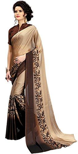 PMV Creation Women's Silk Saree(PMV 00148) (BROWEN)