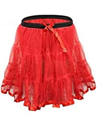 "Girls Red 18"" Long Petticoat Tutu Age 4-12 Years"