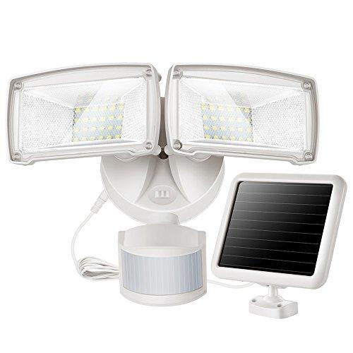 SOLLA Einstellbare Dual-Kopf Solar-Bewegungs-Sensor-Licht, 950 lm, 5000K Tageslichtweiß, IP65 Wasserdicht LED Fluter für Hof, Garten, Deck, Garage