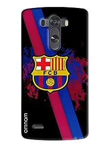 Omnam Printed Back Cover Flag FCB Black for LG G3