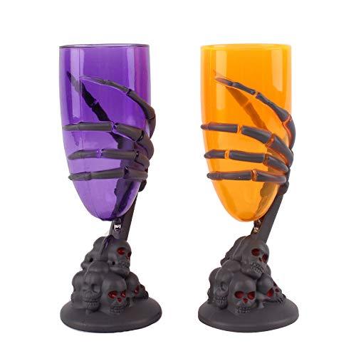 Wawer LED Unheimlich Kelch Glühende Becher Wein Tasse Klaue Party Spuk Skeleton Schädel Halloween Becher Bar Trinkbecher zufällige Farbe (Guter Wein Die Für Halloween-party)