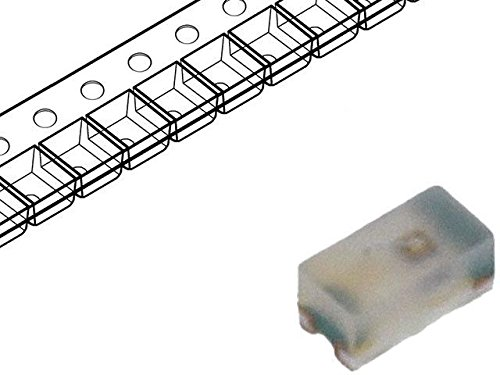 4x HSMC-C280 LED SMD 0402 red 28.5-90mcd 1x0.5x0.4mm 130° 1.9÷2.4V 20mA