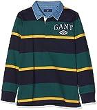 GANT Jungen T-Shirt Tb. Collegiate Striped Hr Grün (June Bug Green) 16 Jahre (Herstellergröße: 176)
