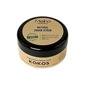Meina Naturkosmetik – Körperpeeling mit Kokos – Bio Gesichtspeeling und Lippenpeeling für Damen und Herren (1 x 280 g) Face, Lip, Body Scrub Peeling